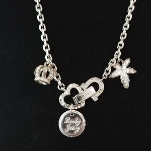 Lovely Juicy Starter Charm Necklace Silver Tone